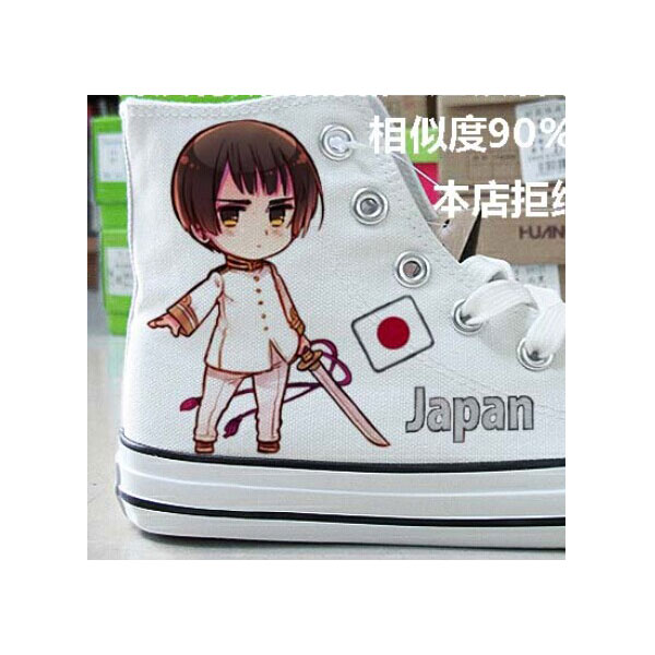 Anime Shoes Hetalia: Axis Powers High-top Painted Canvas Shoes-2