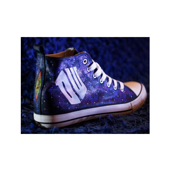 Doctor Who dark galaxy high tops shoes Dr. Who Customized High-t-1