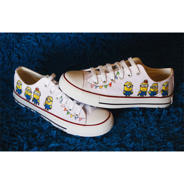 Minions canvas shoes Despicable me hand painted shoes