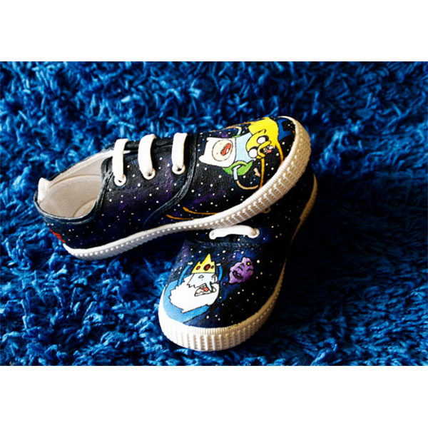 Adventure Time Galaxy canvas shoes hand painted shoes-2