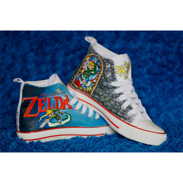 Legend of Zelda custom hand painted shoes-1