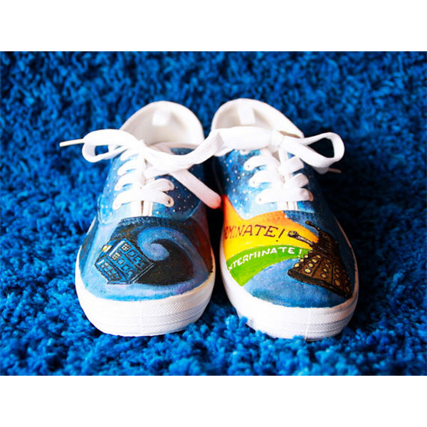 Doctor Who canvas shoes light galaxy shoes