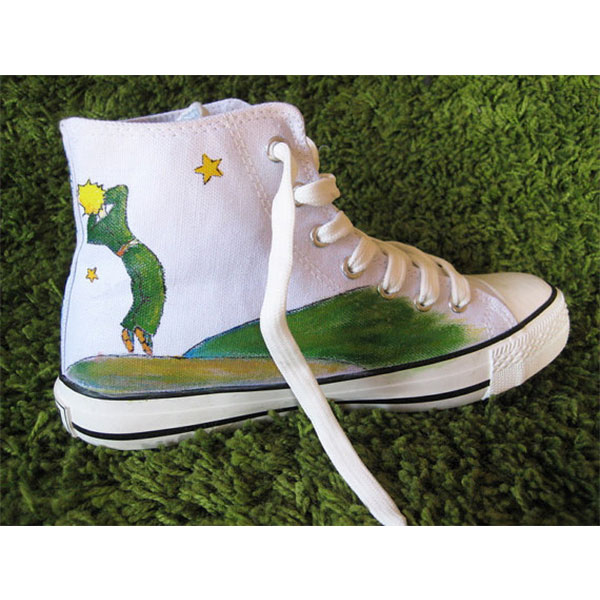 Petit prince High-top Painted Canvas Shoes-1