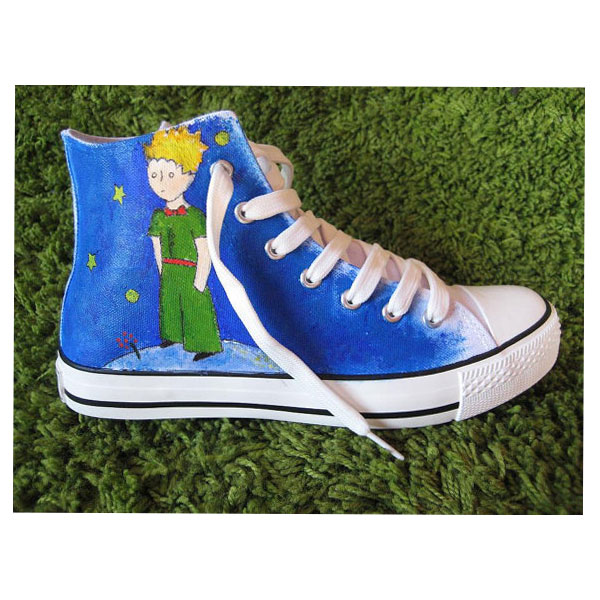 Petit prince High-top Painted Canvas Shoes-2
