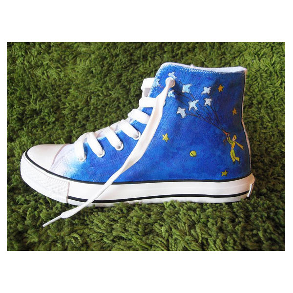 Petit prince High-top Painted Canvas Shoes-3