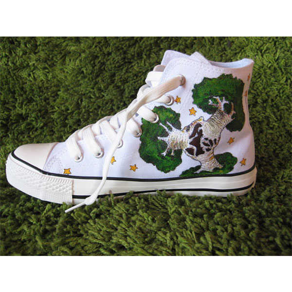 Petit prince High-top Painted Canvas Shoes