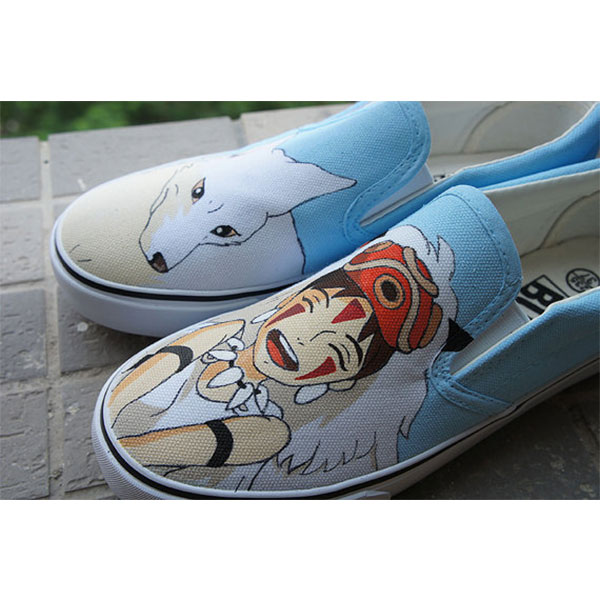 Mononoke anime shoes Slip-on Painted Canvas Shoes-1