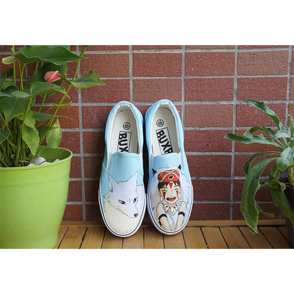 Mononoke anime shoes Slip-on Painted Canvas Shoes-2