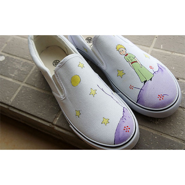 The Little Prince Hand painted shoes Cartoon shoes-2