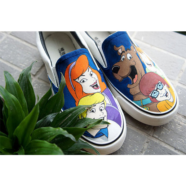 Hand painted shoes Scooby Doo shoes scoobydoo shoes-1