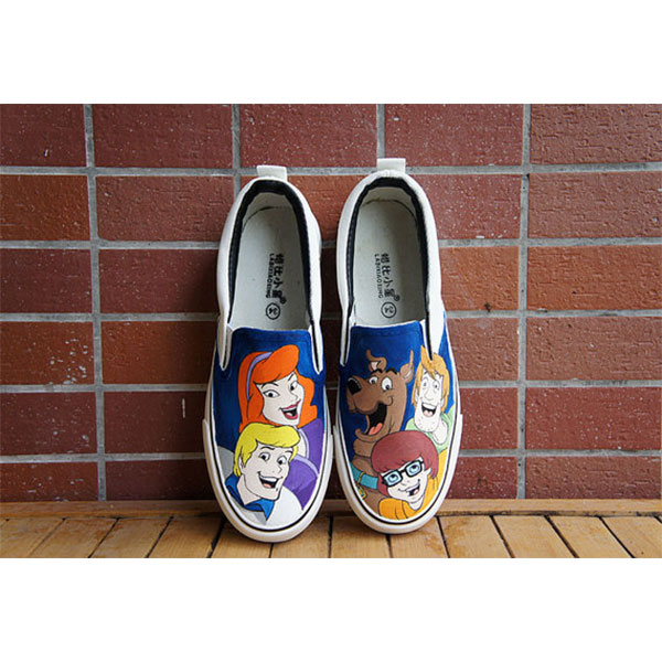 Hand painted shoes Scooby Doo shoes scoobydoo shoes-2