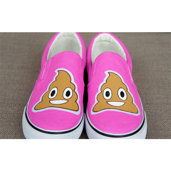 Emoji sneakers Emoji Slip-on Painted Canvas Shoes-1