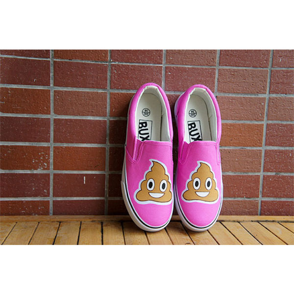 Emoji sneakers Emoji Slip-on Painted Canvas Shoes-2