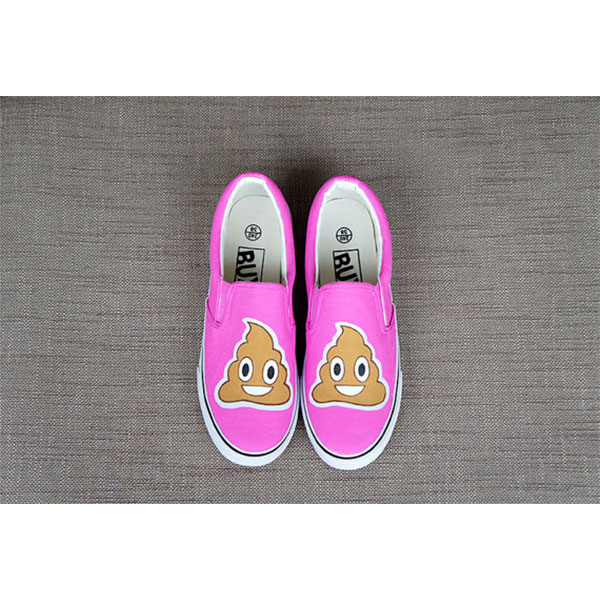 Emoji sneakers Emoji Slip-on Painted Canvas Shoes