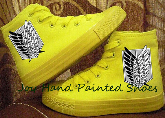 attack on titan black anime sneaker shoes-3