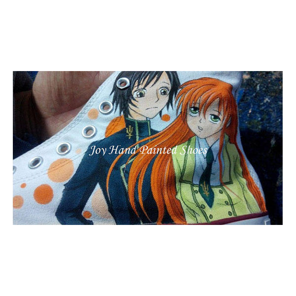 code geass anime Sneakers Custom Hand Painted Shoes for women/me-2