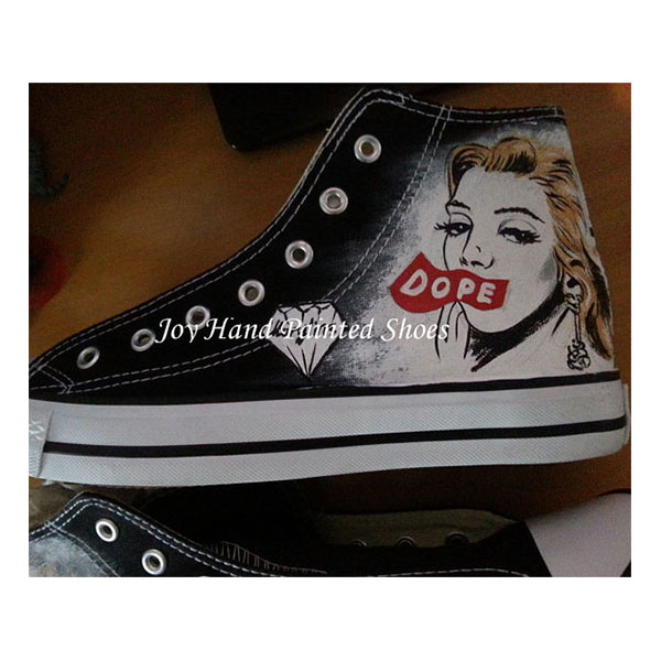 Marilyn Monroe Custom Sneakers Custom Hand Painted Shoes for wom-1