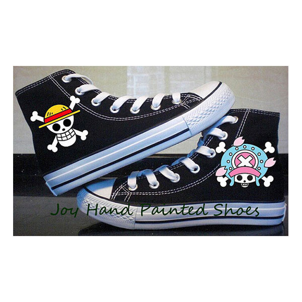 one piece anime Custom Shoes one piece anime hand painted shoes-1