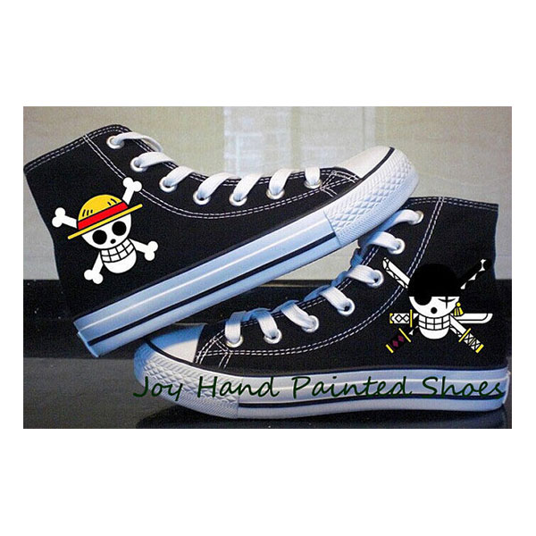 one piece anime Custom Shoes one piece anime hand painted shoes-4