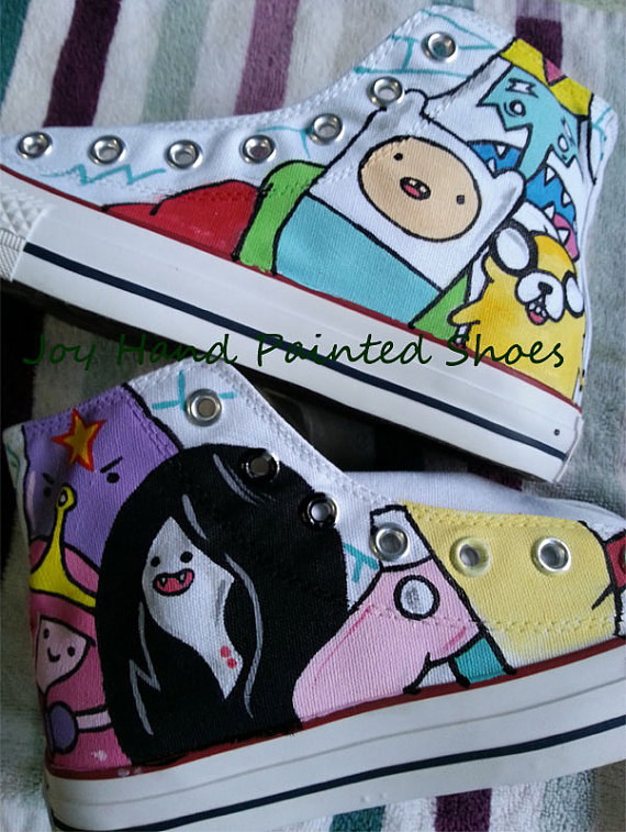 anime adventure time sneakers custom adventure time shoes-1
