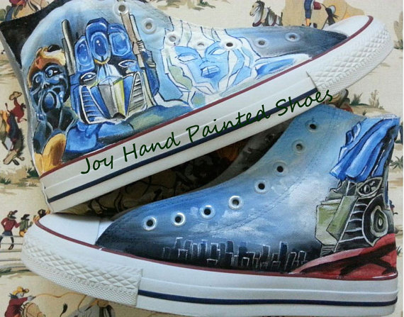 Transformers Converse sneakers Custom Transformers Shoes-1