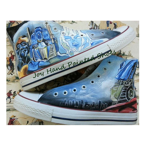 01b65327ae Transformers Converse sneakers Custom Transformers Shoes