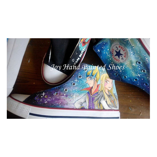 Custom Galaxy Shoes Yu-Gi-Oh! ZEXAL Painted Converse Sneaker Men-1