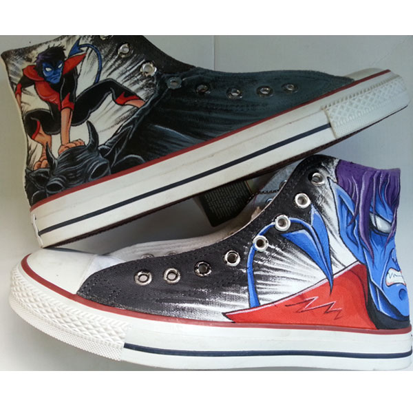 X-Men Converse X Men Nightcrawler Sneakers Custom Hand Painted S
