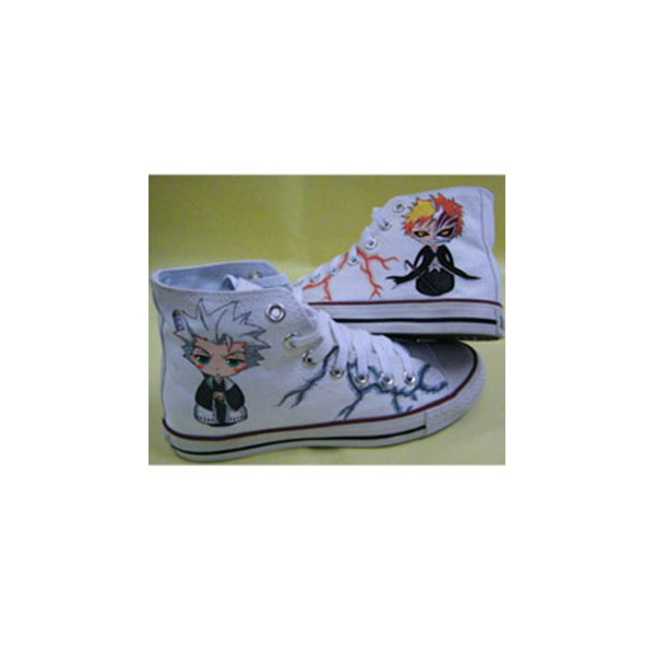 Custom Anime Shoes Bleach Anime Hand painted Hightop Shoes Hand