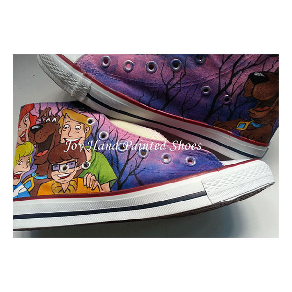 Custom Unique Gifts Scooby Doo Custom Shoes Birthday Gifts Chris-1