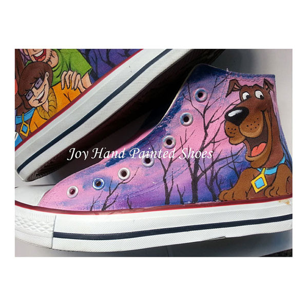 Custom Unique Gifts Scooby Doo Custom Shoes Birthday Gifts Chris-3