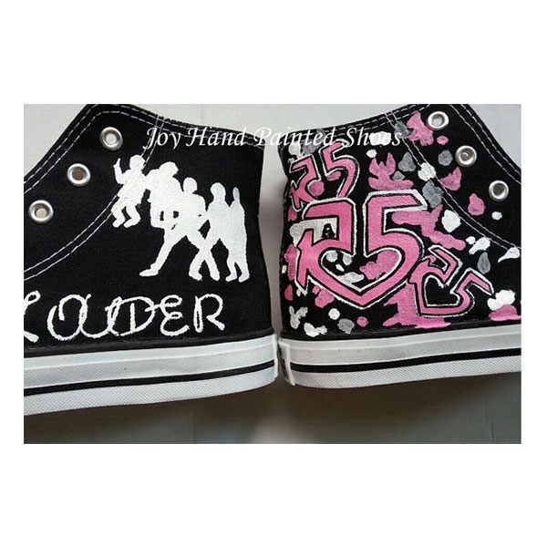r5 shoes r5 black sneakers to buy hand-painted shoes-1