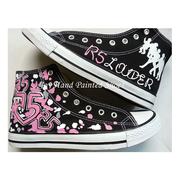 r5 shoes r5 black sneakers to buy hand-painted shoes
