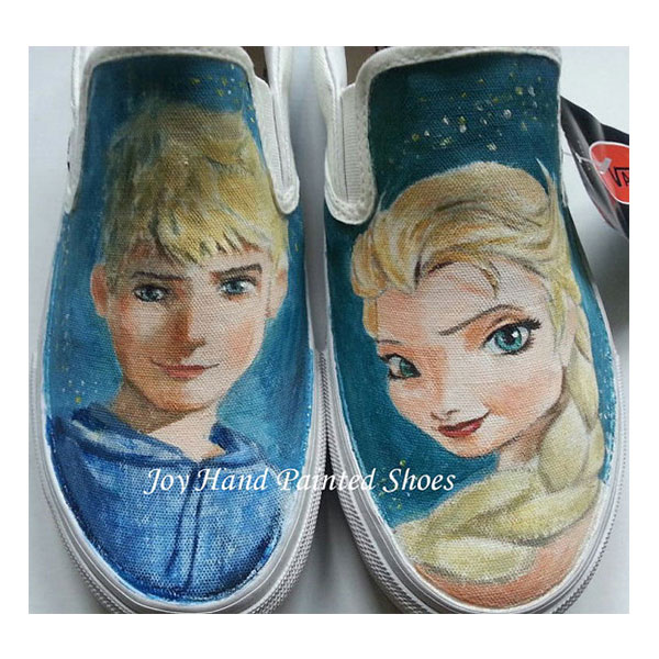 fac8ba5b5c35ec Frozen Vans Shoes frozen sneakers custom handpainted Frozen shoe