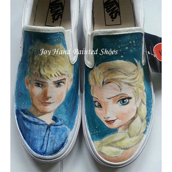 Frozen Vans Shoes frozen sneakers custom handpainted Frozen shoe