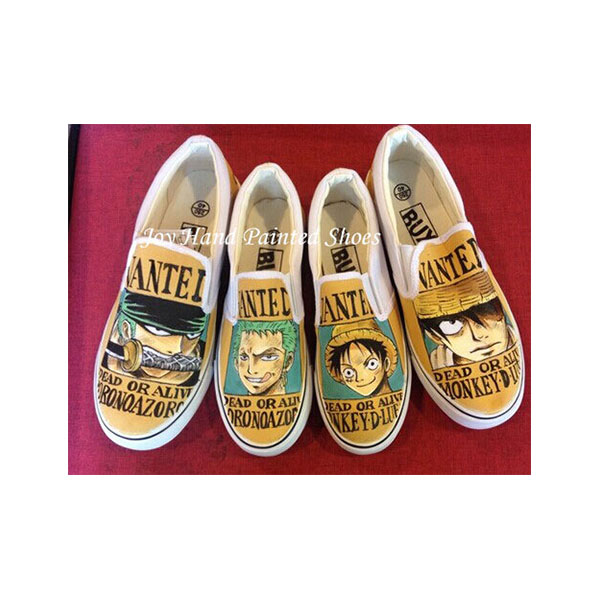 one piece anime shoes anime hand painted shoes for women/men