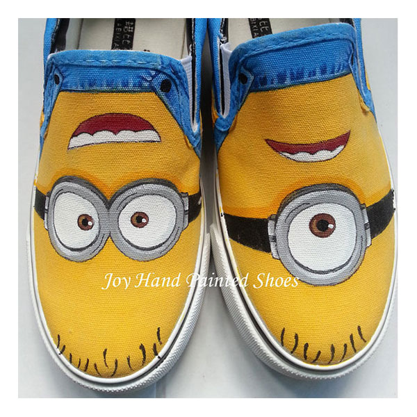 minion vans for Men Women Vans Shoes Anime Custom Hand Painted S
