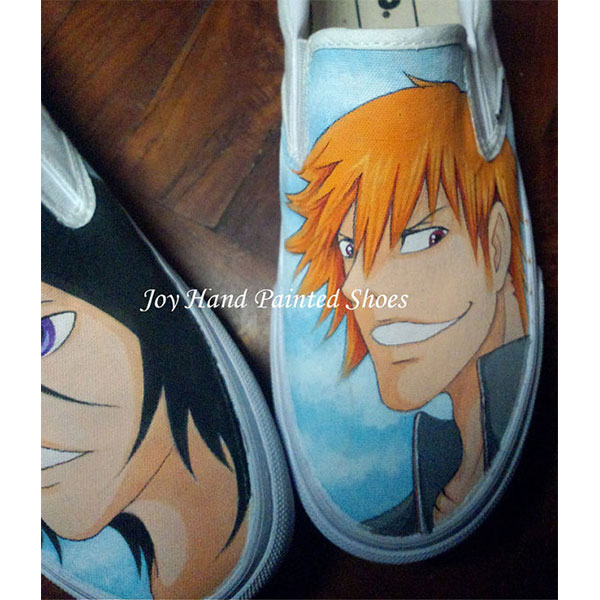 Anime Bleach Vans Slip On Vans Shoes Hand Painted Canvas Shoes f-2