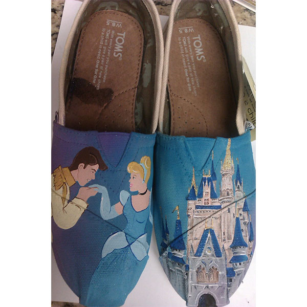 Happily Ever After hand painted TOMS