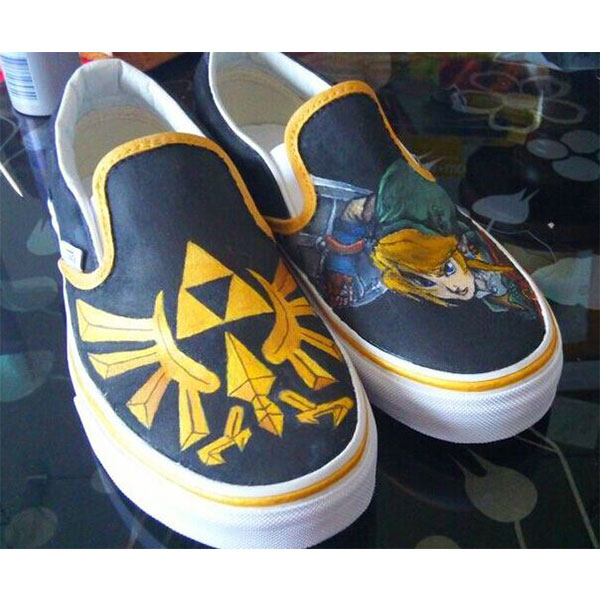 Legend of Zelda Custom HandPainted Shoes