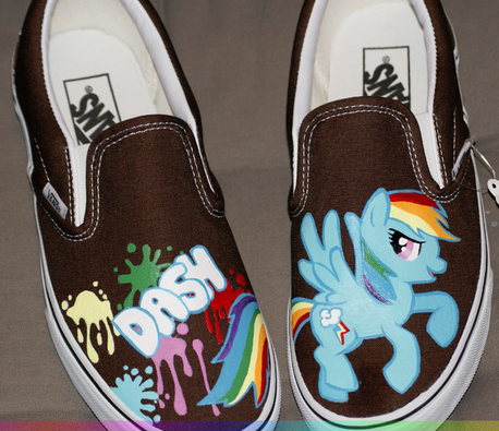 My little pony rainbow dash custom sneakers