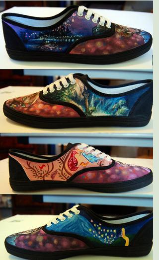 Frozen Hand Painted Sneakers-1