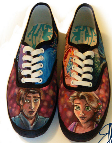 Frozen Hand Painted Sneakers