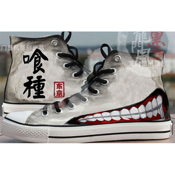 Tokyo Ghoul Canvas Painted Shoes