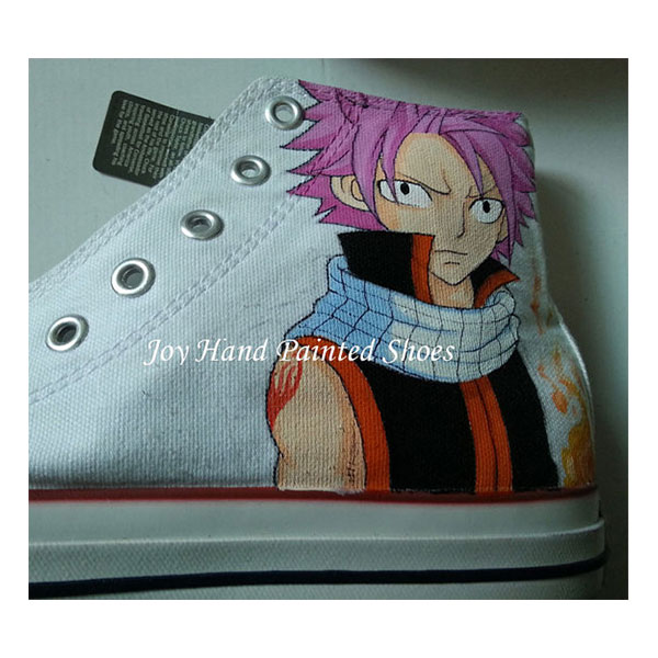 fairy tail shoes fairy tail anime shoes hand painted shoes paint-1