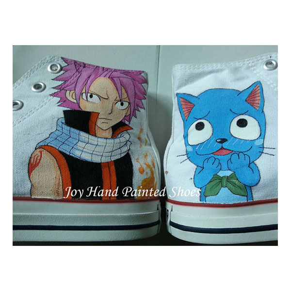 fairy tail shoes fairy tail anime shoes hand painted shoes paint-2