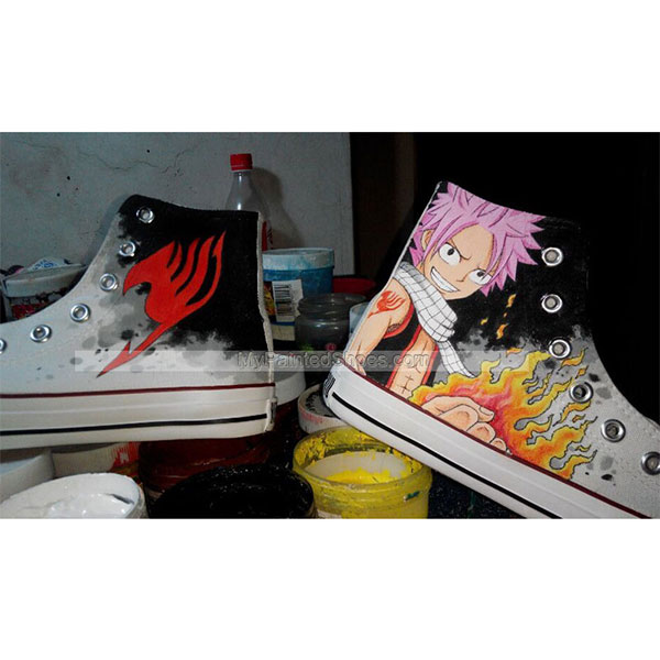 Fairy Tail Hand Painted Anime Shoes Fairy Tail Shoes Custom Anim-1