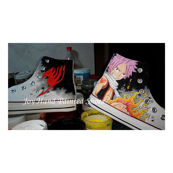 Fairy Tail Hand Painted Anime Shoes Fairy Tail Shoes Custom Anim