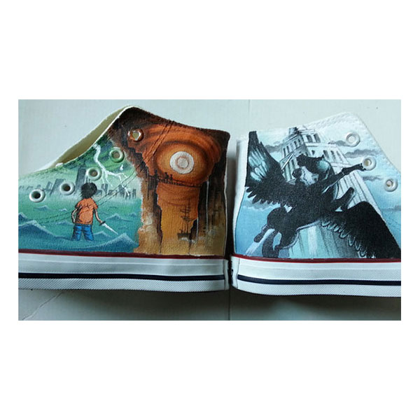 Percy Jackson Hand Painted Shoes by each of the books custom can-1