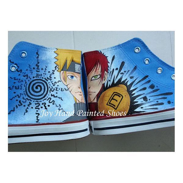 naruto shoes custom canvas shoes naruto anime sneakers painted s-2